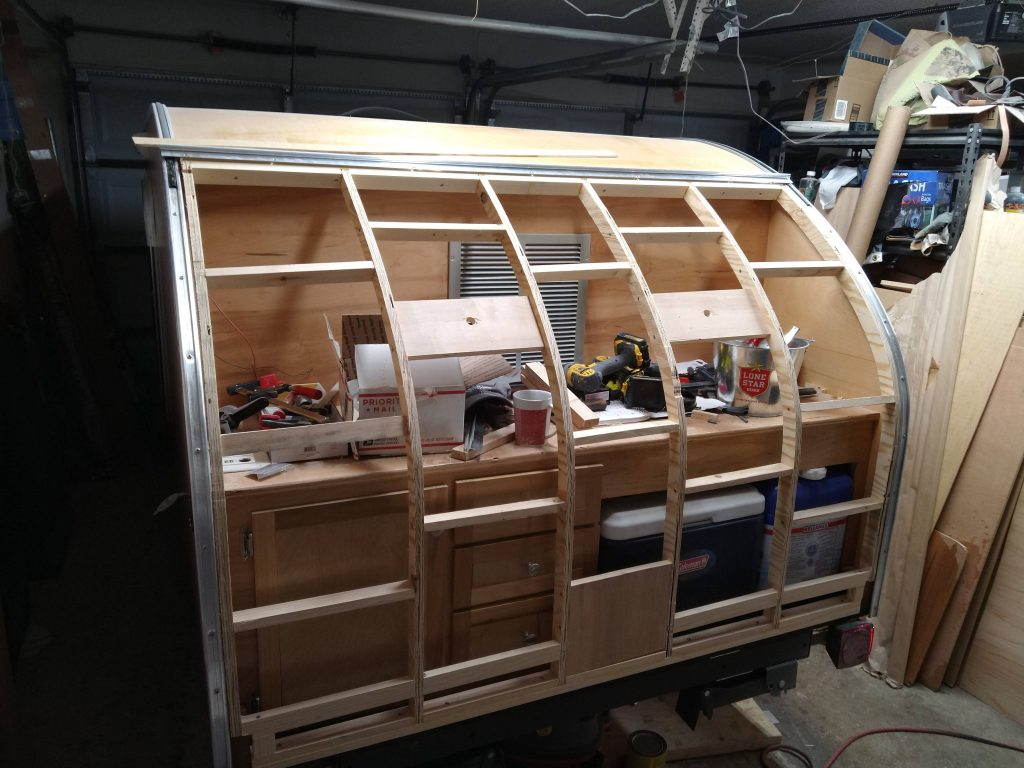 Galley hatch with just ribs and spars installed