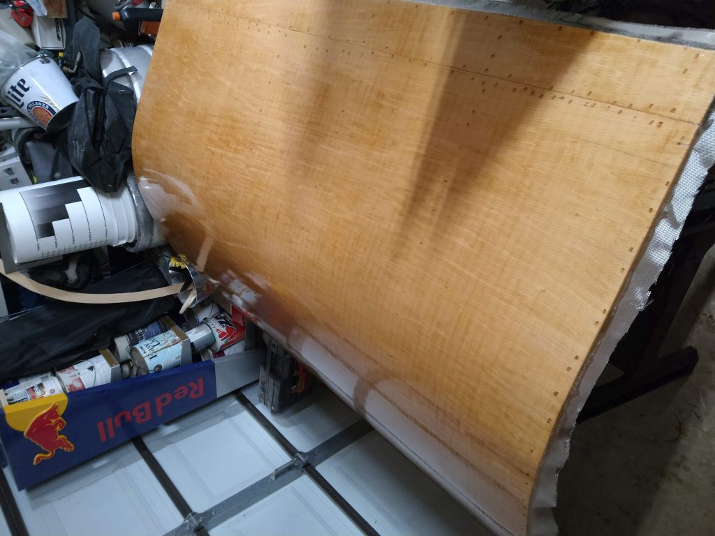 fiberglass and epoxy on the galley hatch
