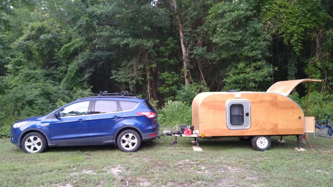 First trips camping in the teardrop trailer.