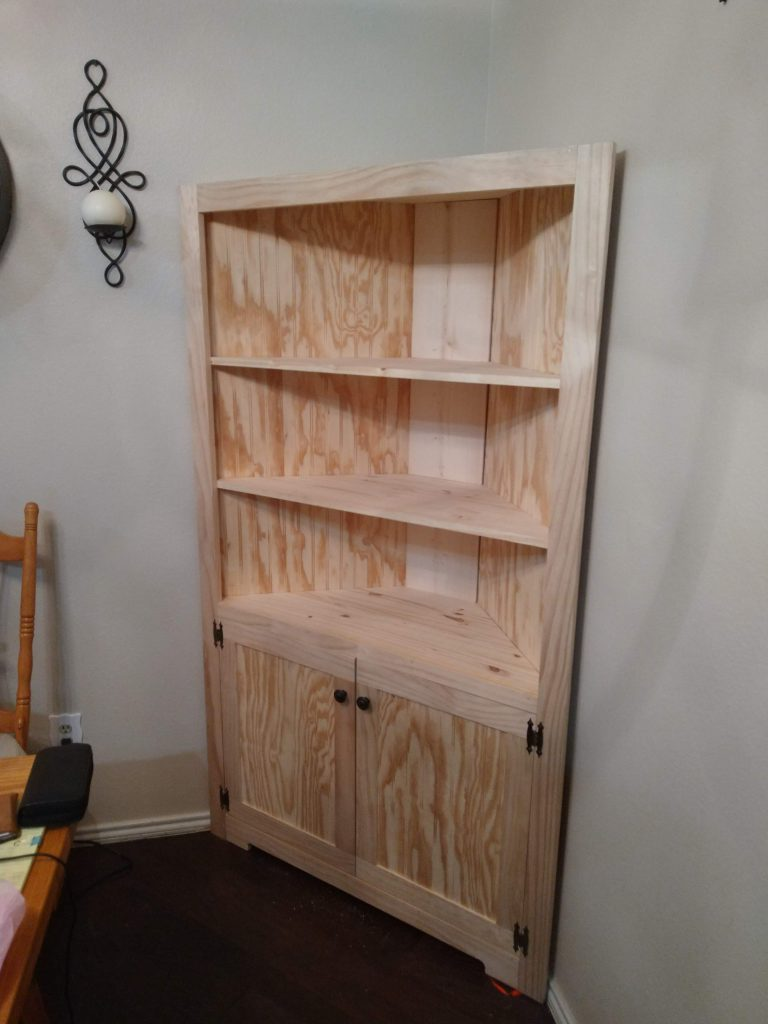 corner cabinet in the nude